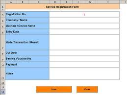 Registration Form Template Excel Service Registration Form Merkez Advanced Ms Excel Tutorials