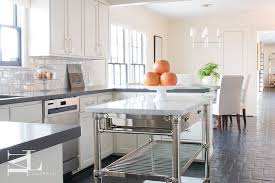 black kitchen island with stainless steel top marble top kitchen island transitional kitchen
