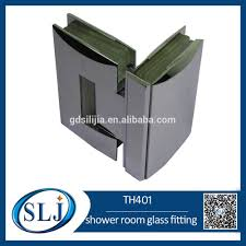 curved surface fashion design shower door hinges glass fitting