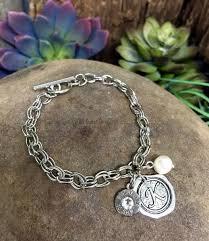 charm bracelet designs images Custom initial bullet charm bracelet freshwater pearl jpg