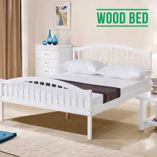 Double Bed Furniture Wood Off White Bedroom Ideas With Pine Furniture Home Improvement