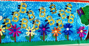 bumble bee spring bulletin board idea ideas pinterest