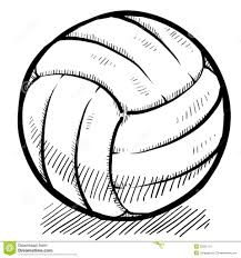 drawing of a volleyball 1000 images about sport on pinterest