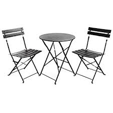 Steel Bistro Chairs Hollyhome Outdoor Balcony Folding Steel Bistro