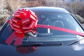car ribbon mega car bow 42cm diameter with 6m ribbon metallic