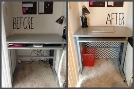 how to organize wires behind desk wires hung on hooks under desk so you can t see them love it can