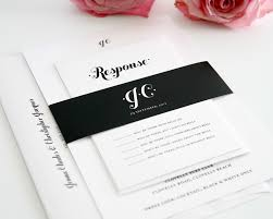 Ideas For Invitation Cards Black And White Wedding Invitations Kawaiitheo Com