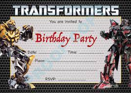 transformer birthday transformer birthday invitations transformer birthday invitations