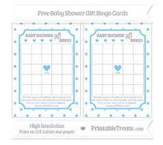 baby shower gift bingo pastel light blue pattern baby shower gift bingo cards