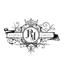 baroque ornament crown wedding monogram wedding logo wedding