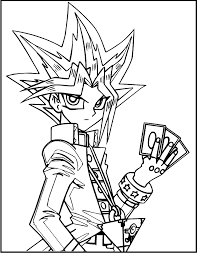 yami yugi character yu gi oh coloring picture for kids yu gi oh