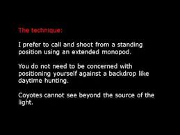 Can Coyotes See Red Light Night Hunting For Coyotes Youtube