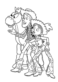 cowboys toy story coloring pages kids printable free