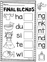 24 best final consonant blends images on pinterest consonant