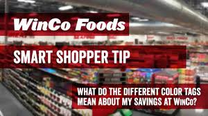 what do different colours mean winco foods smart shopper tip what do the different color tags
