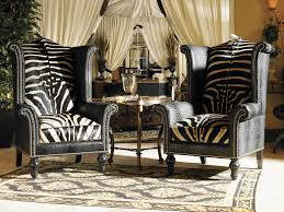 Black And Gold Accent Chair Funiture Cute Zebra Accent Chairs In Bold Fabric Upholstery Also