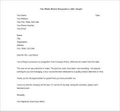 awesome collection of printable format for a resignation letter