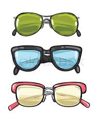 three types of different sun eyeglasses different spectacles