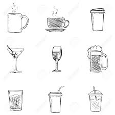 cocktail sketch cocktail clipart wine beer pencil and in color cocktail clipart