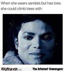 Portrait Meme - when she has toes she could climb a tree with funny meme pmslweb