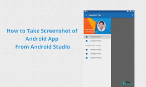 how to take a screen on an android how to take screenshot of android application in android emulator