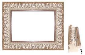 cornici per foto cornice argento classica per quadri spessore front cm 4 cornici