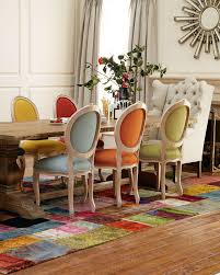 different color dining room chairs ideas including images