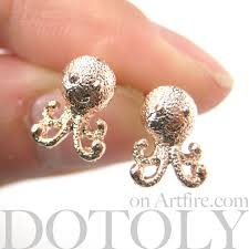 store stud earrings dotoly plus small octopus squid sea animal stud earrings in