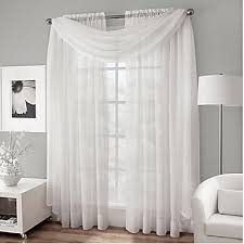 two panels curtain modern solid living room polyester material