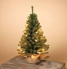 pre lit artificial 18 inch pine tree burlap sack base