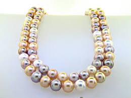 color pearl necklace images Classic double strand mutli color pastel pearl necklace ll pavorsky jpg