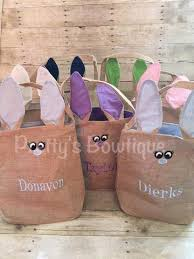 personalized easter buckets burlap bunny basket bunny personalized easter basket