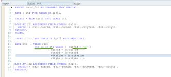 types of table ls for loop in abap sapcodes