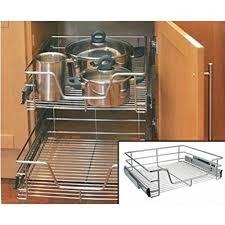 under sink storage tidy amazon co uk kitchen home kitchen cabinet cupboard pull out wire storage basket drawer rack