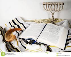 shofar tallit and open book stock image image of shawl pesach