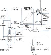 Laptop Desk Arm Sit Stand Desk Mount Laptop Arm Ergodirect Ed Nb Lx2dm