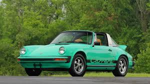 green porsche 911 1974 porsche 911 carrera targa s75 monterey 2016