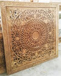 Carved Wooden Headboards Bed Headboard Closet Window Door Traditional Bali Wood Panel