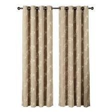 Wide Window Curtains by Window Elements Sheer Boho Embroidered Sheer Faux Linen 96 In L
