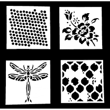 indigoblu inky dink stencils 3 x3 all 4 designs dots