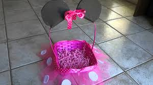 minnie mouse easter baskets diy minnie mouse easter basket craft