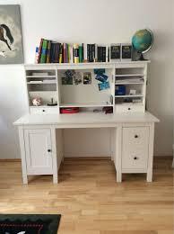 Breiter Schreibtisch Gebraucht Schreibtisch Mit Aufsatz Ikea Hemnes In 04357 Leipzig