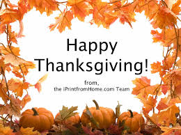 happy thanksgiving iprintfromhome