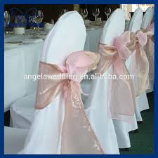 chair sashes sh017b wholesale fancy cheap wedding organza tie hot pink