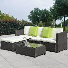 Outdoor Living Patio Furniture 5pc Outdoor Patio Sofa Set Sectional Furniture Pe Wicker Rattan