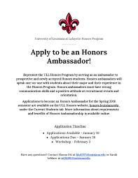 university honors program academic affairs division