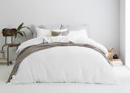 linge lit lin brisa parure de lit 100 lin blanc cassé made com