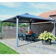 Gazebo With Awning Palram 14 Ft W X 14 Ft D Permanent Gazebo U0026 Reviews Wayfair