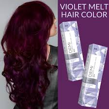 black hair to raspberry hair ion at home on twitter get the violet color melt hair look at