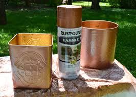 cans w paint back deck ideas pinterest copper planters and